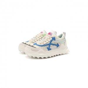 Комбинированные кроссовки ODSY-1000 Off-White. Цвет: белый