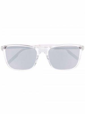 Солнцезащитные очки в полупрозрачной квадратной оправе Dior Eyewear. Цвет: нейтральные цвета