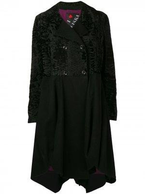 Пальто миди Maja Liska. Цвет: черный