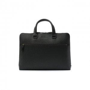 Кожаная сумка для ноутбука Salvatore Ferragamo. Цвет: серый
