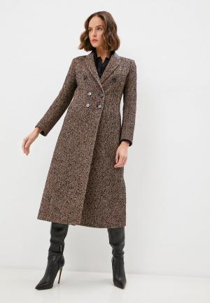 Пальто Patrizia Pepe. Цвет: коричневый