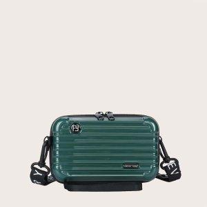 Мужская сумка через плечо в форме чемодана SHEIN. Цвет: зелёные