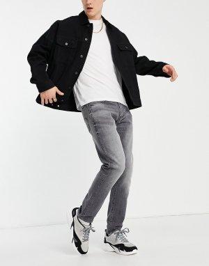 Серый выбеленные узкие джинсы 3301 G-Star