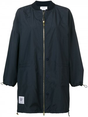 Куртка-бомбер оверсайз с эффектом тромплей Thom Browne