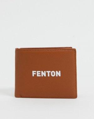 Бумажник двойного сложения из искусственной кожи -Коричневый цвет Fenton