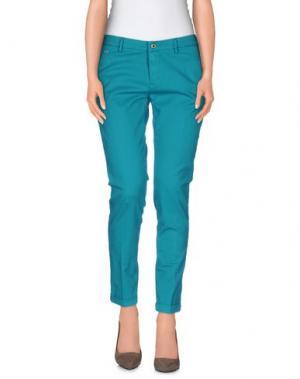 Повседневные брюки TRAMAROSSA. Цвет: бирюзовый