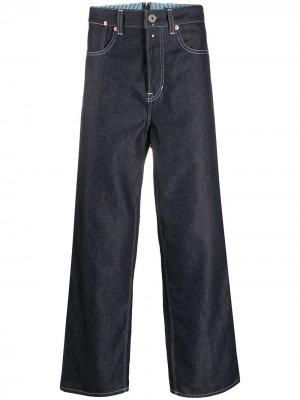 Укороченные джинсы широкого кроя Junya Watanabe MAN. Цвет: синий