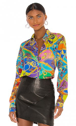 Блузка paisley Versace Jeans Couture. Цвет: green,yellow