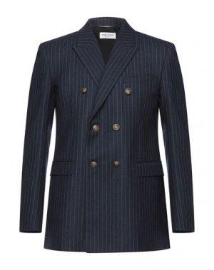 Пиджак SAINT LAURENT. Цвет: темно-синий
