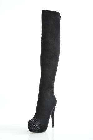 Ботфорты Inario. Цвет: черный