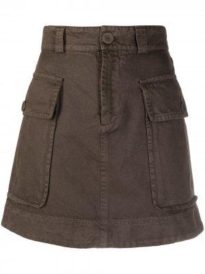 Джинсовая юбка мини с завышенной талией See by Chloé. Цвет: коричневый