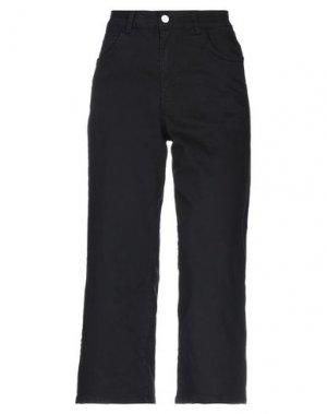 Джинсовые брюки-капри LANACAPRINA. Цвет: черный