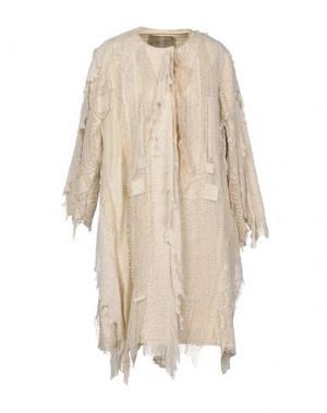 Легкое пальто BY WALID. Цвет: бежевый