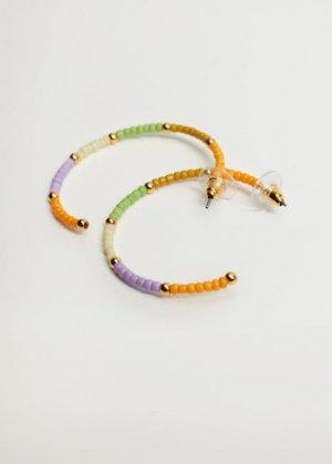 Серьги-кольца с бусинками - Buzz Mango. Цвет: золото