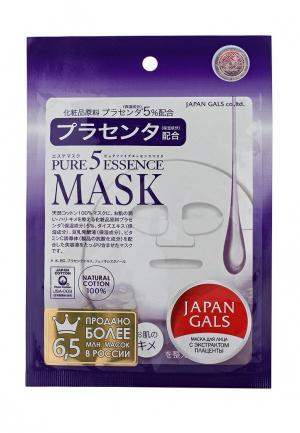 Маска для лица Japan Gals с плацентой, 1 шт