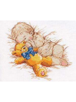 Набор для вышивания Сынишка  25х22 см. Алиса. Цвет: бежевый, голубой, желтый