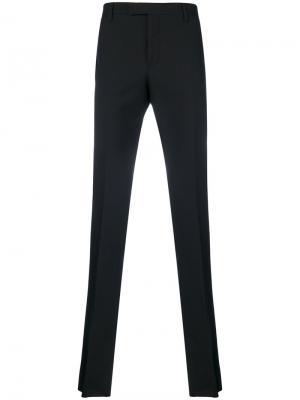 Классические брюки кроя слим Saint Laurent. Цвет: чёрный