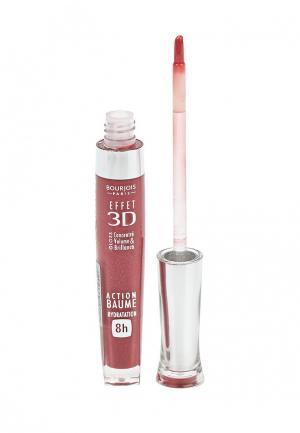 Блеск для губ Bourjois Effet 3D 03 тон brun rose academic. Цвет: розовый