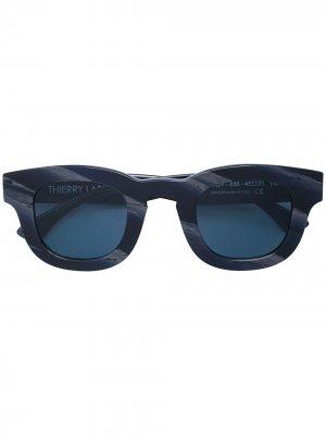 Солнцезащитные очки Darksidy в квадратной оправе Thierry Lasry. Цвет: черный