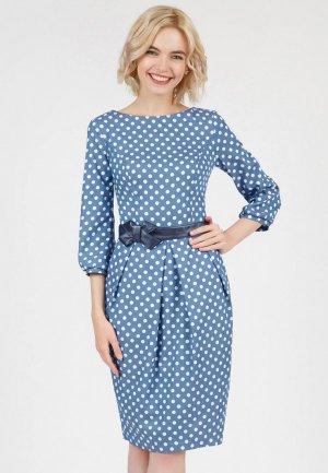 Платье Olivegrey DAYAN. Цвет: голубой