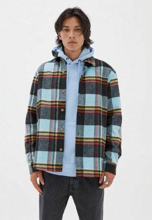 Рубашка Pull&Bear. Цвет: разноцветный