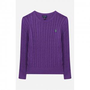 Хлопковый пуловер Polo Ralph Lauren. Цвет: фиолетовый