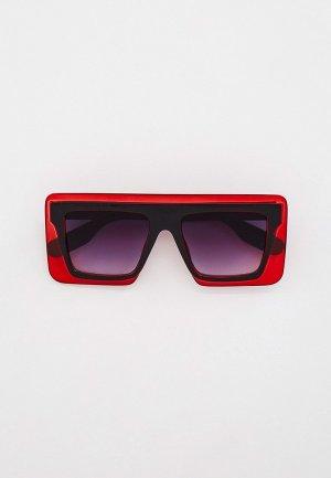 Очки солнцезащитные Bocciolo. Цвет: красный