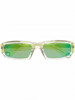 Солнцезащитные очки Altù в прямоугольной оправе Jacquemus. Цвет: зеленый