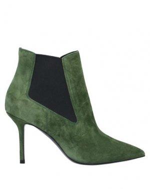 Полусапоги и высокие ботинки PREMIATA. Цвет: зеленый-милитари