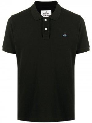 Рубашка поло с логотипом Vivienne Westwood. Цвет: черный