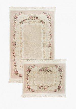 Комплект ковриков Arloni. Цвет: розовый