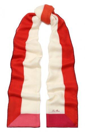 Шаль Linfinito из смеси кашемира и шелка Loro Piana. Цвет: красный