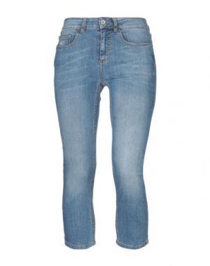 Джинсовые брюки-капри FORNARINA. Цвет: синий