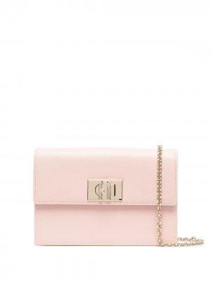 Поясная сумка среднего размера Furla. Цвет: розовый