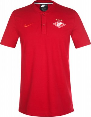 Поло мужское Spartak Moscow, размер 46-48 Nike. Цвет: красный