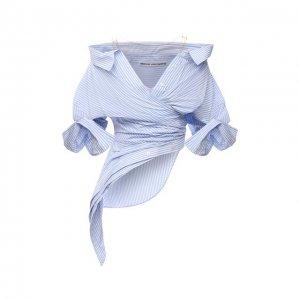 Рубашка Alexander Wang. Цвет: голубой