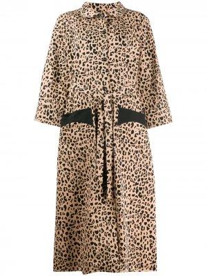 Пальто Anny на пуговицах с леопардовым принтом Baum Und Pferdgarten