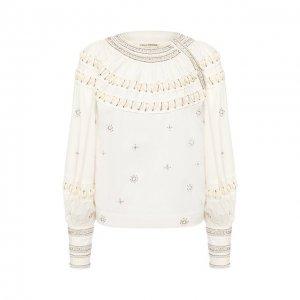 Хлопковая блузка Ulla Johnson. Цвет: белый