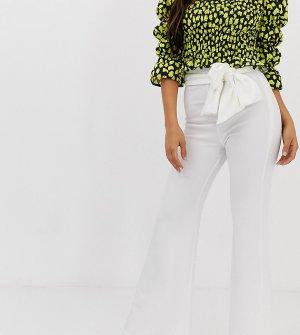 Белые брюки с легким клешем -Белый John Zack Petite