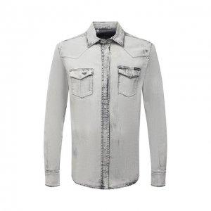 Джинсовая рубашка Dolce & Gabbana. Цвет: серый