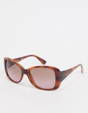 Большие квадратные солнцезащитные очки 0VO2843S-Коричневый Vogue