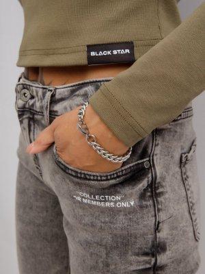 Браслет-цепь BS Black Star Wear. Цвет: серебряный