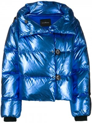 Куртка-бомбер с эффектом металлик John Richmond. Цвет: синий