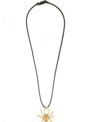 Колье Natia x Lako с кулоном в форме паука. Цвет: золотистый