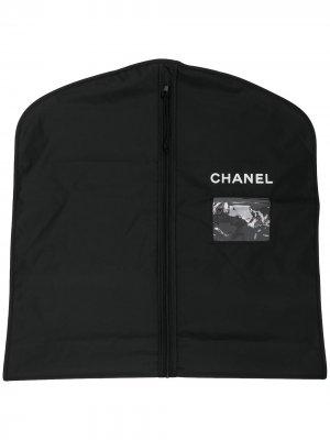 Чехол для одежды 2000-х годов с логотипом Chanel Pre-Owned. Цвет: черный