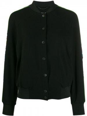 Куртка-бомбер с вышивкой Tiger и принтом Sea Lily Kenzo. Цвет: черный