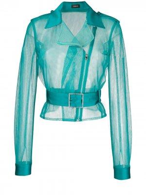 Прозрачная куртка-бомбер Pinko. Цвет: зеленый