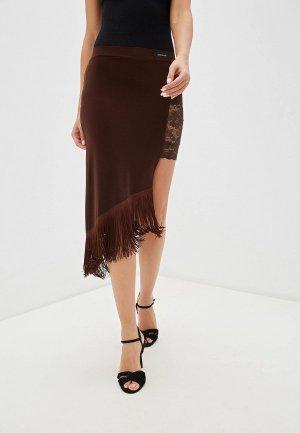 Юбка AltraNatura. Цвет: коричневый