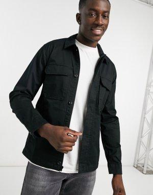 Черная куртка-рубашка -Черный цвет Abercrombie & Fitch