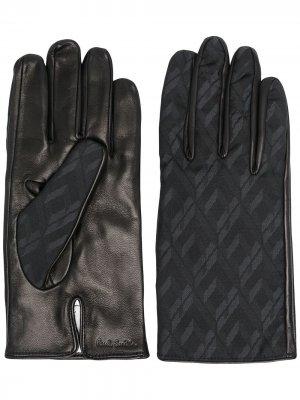 Перчатки со вставками Paul Smith. Цвет: черный